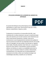 ENSAYO SOBRE LA SITUACION ECONOMICA DE LA REGION