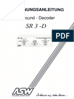 ASW SR 3-D Passive Surround Decoder (Instructions, German, RARE)