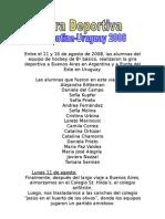 Gira Deportiva Argentina-Uruguay 2008