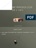 ANATOMIE PHYSIOLOGIE DE L'ŒIL