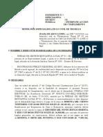 modelo de DEMANDA ACCIÓN DE CUMPLIMIENTO