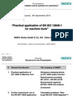 Practical application of EN ISO 13849-1 for machine tools - Eberhard Beck