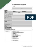 Ficha de Requerimiento para empresas