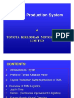 Toyota Milk Run System