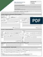 MWeb Application Form