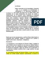 El Plan Nacional Simón Bolívar Se Define Como Un Proyecto Socialista