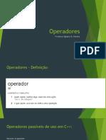 3.2 - Operadores
