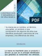 CONSTRUCCION Y DESARROLLO DE UNA MARCA