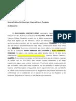 CARTA DE SOLTERIA. Simple ELIO CONFORTO Y EMMA PIÑANGO