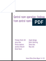 control Room operation