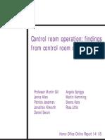 control Room operation