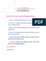 SIGNS OF QAYAMAT