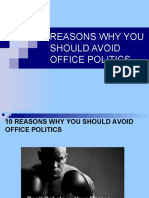 REASONS WHY YOU SHOULD AVOID OFFICE POLITICS