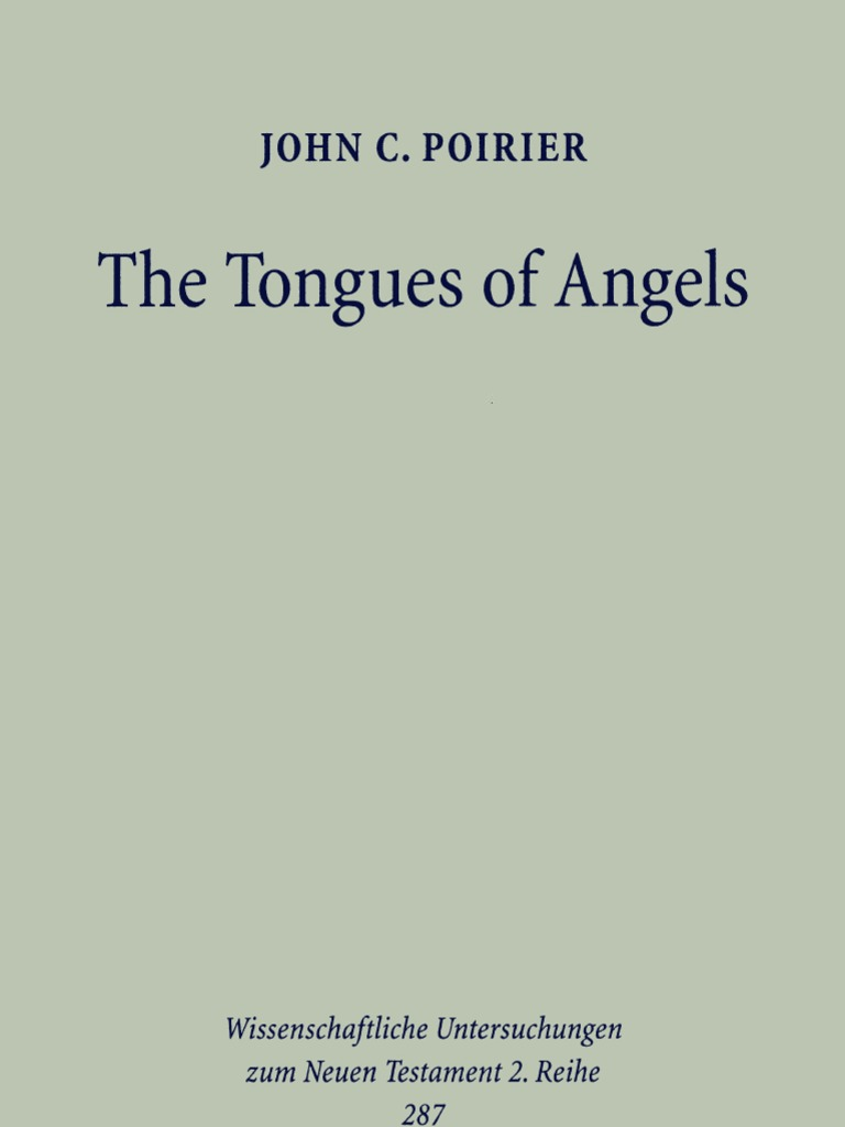 John C Poirier The Tongues Of Angels The Concept Of Angelic