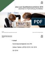 _ Information zum Qualifikationsverfahren 2016 Zeichner_-in Fachrichtung Architektur