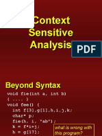 Context Sensitive Analysis and Attribute Grammar - Compiler Design - Dr. D. P. Sharma - NIT Surathkal by wahid311