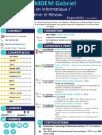 CV Ing. Systèmes Et Réseaux KAMDEM Gabriel