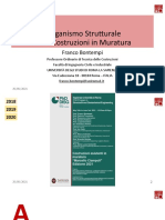 L'Organismo Strutturale delle Costruzioni in Muratura