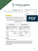 Ficha Formativa Cel Formação Classe Frasesimples Complexa Flexãoverbal
