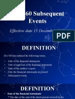 ISA 560 - Presentation