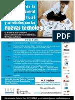 Poster de las jornadas sobre propiedad intelectual y nuevas tecnologías