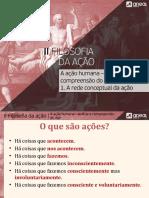 II-1-FILOSOFIA DA AÇÃO - rede concetual