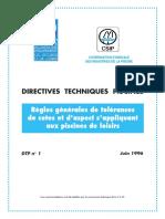 Normes DTP 2 Aquatechni 2015