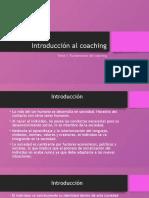 TEMA 1 Introducción al coaching