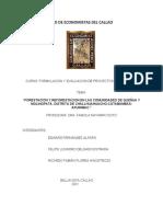 """PI """"FORESTACION Y REFORESTACION EN LAS COMUNIDADES DE QUEÑUA Y MOLINOPATA, DISTRITO DE CHALLHUAHUACHO-COTABAMBAS- APURIMAC."""""""
