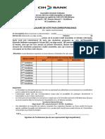 Formulaires de Vote Ago Mt 16 Juin 2021