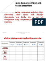 How to Evaluate Corporate Vision and Mission Statement