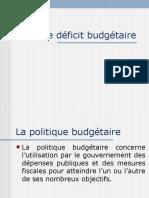 Le déficit budgétaireII