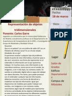 """Poster de la ponencia """"Representacion objetos tridimensionales"""""""