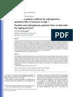 Familles Et Patient Souffrant de Schizophr Nie Questions Li Es l Avanc e en Ge 2009 Annales M Dico Psychologiques Revue Psychiatrique