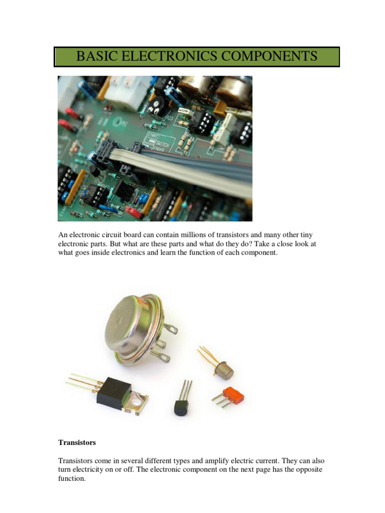 Fantastic Electronic Component Function Elaboration - Simple Wiring ...