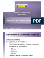 Network Performance Definitions VFR