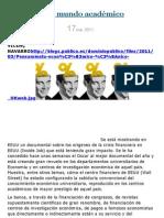 La banca y el mundo académico. VICENÇ NAVARRO