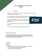 UNIDAD I, SEMANA 1. MUNICIPALISMO Y DS