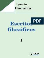 Ellacuría, I. Escritos Filosóficos 1. 1996