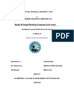 Angel Broking Project Report Copy Avi