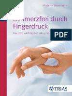 Andiamo A Studiare Der Schmerzfrei Durch Fingerdruck. Die 200 Wichtigsten Akupressurpunkte Von Marlene Weinmann