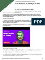 7 increíbles timelapses de ilustración de personajes de cómic