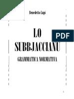 Lo Subbjaccianu Grammatica