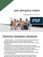Трудовые ресурсы мира (Галкина Д. 3с-э12-1)