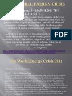 Japan Earthquake  and  The Global Energy Crisis 2011