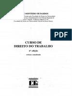 Alice Monteiro de Barros - Curso de Direito Do Trabalho - 6º Edição - Ano 2010