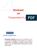 Reviewer on Transportaion Laws