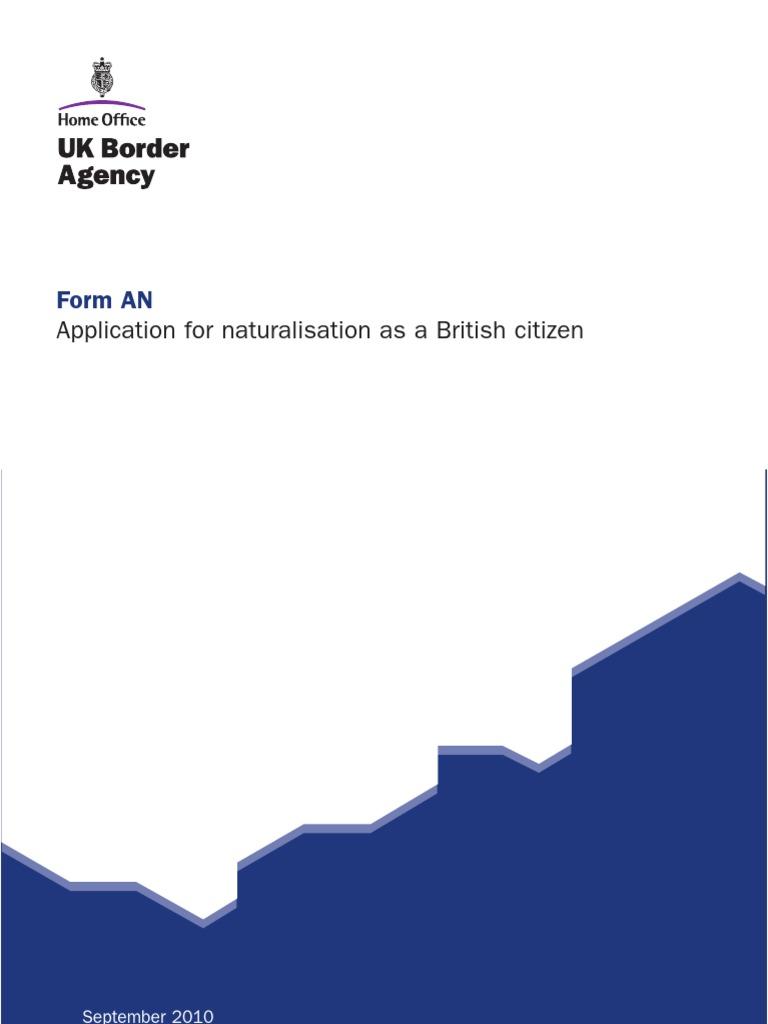 A.N FORM-Naturalization | Passport | Crime & Justice
