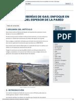 DISEÑO DE TUBERÍAS DE GAS; ENFOQUE EN EL CÁLCULO DEL ESPESOR DE LA PARED - EPCM Holdings