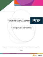 Tutorial Google Classroom Configuração de Turmas